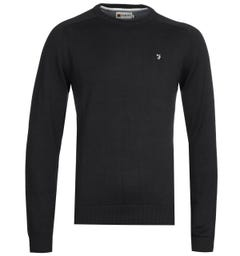 Farah Stern Crew Long Sleeve Black Sweatshirt