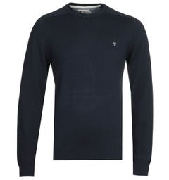 Farah Stern Crew Long Sleeve Navy Sweatshirt