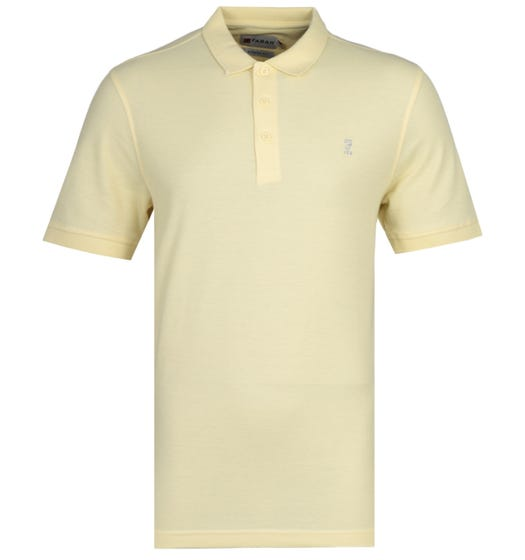 Farah Modern Fit Limited Edition Cove 100 Bleached Sun Yellow Polo Shirt