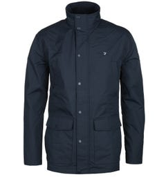 Farah Shrewsbury Four Pocket Navy Lightweight Jacket