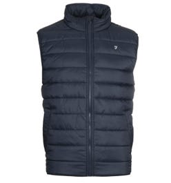 Farah Graham Navy Wadded Gilet