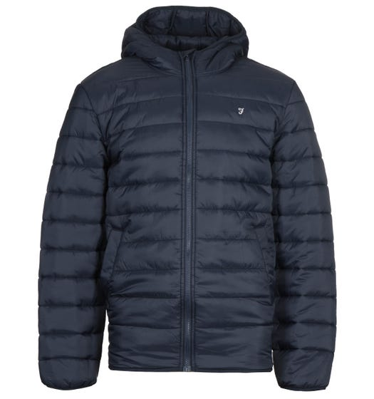 Farah Clarence Navy Wadded Jacket
