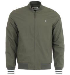 Farah Slade Water Repellent Bomber Jacket - Fatigue Green