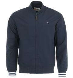 Farah Slade Water Repellent Bomber Jacket - True Navy