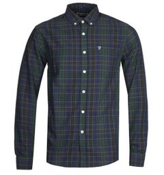 Farah Edina Check Oxford Green Shirt
