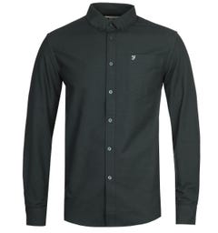 Farah F100 Drayton Long Sleeve Green Shirt