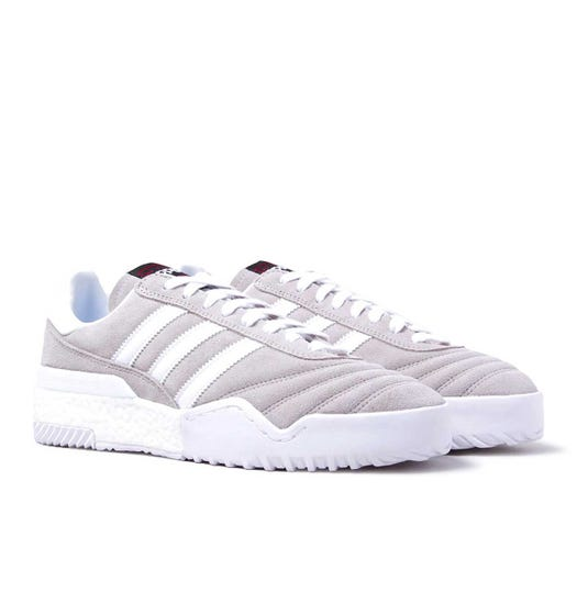 Adidas Originals X Alexander Wang Bball Stone Grey Leather & Suede Soccer Trainers