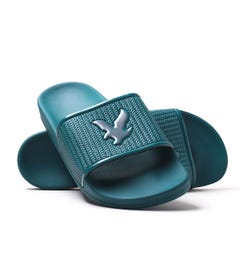 Lyle & Scott Eddie Petrol Teal Sliders