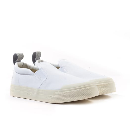 Lyle & Scott Duncan White Canvas Shoes