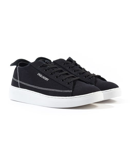 Lyle & Scott Shankly Black Canvas Trainers