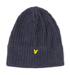 Lyle & Scott Knit Ribbed Grey Marl Beanie