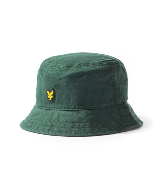Lyle & Scott Cotton Twil Bucket Hat - Jade Green