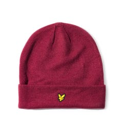 Lyle & Scott Burgundy Beanie