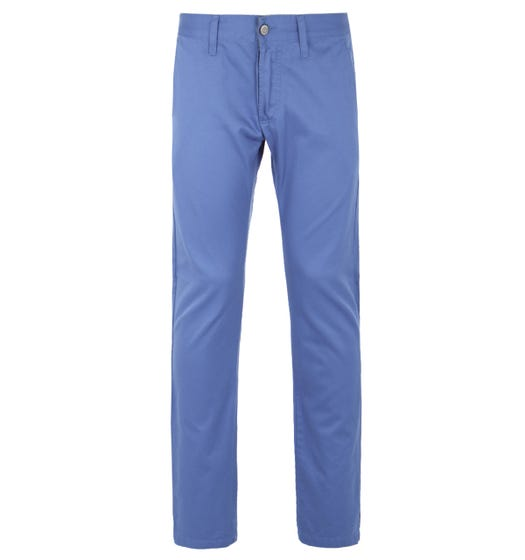 Edwin Compact Royal Blue Rinsed Cotton Twill Chino Trousers