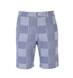 Edwin Blue Patchwork Boardwalk Short