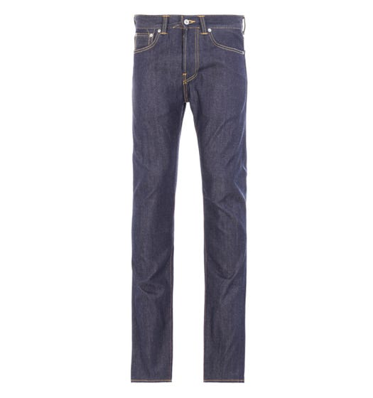 Edwin ED-80 Slim-Tapered Unwashed 63 Rainbow Selvage Denim Jeans