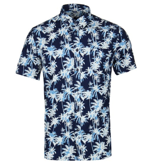 Edwin Blue Short Sleeve Standard Shirt