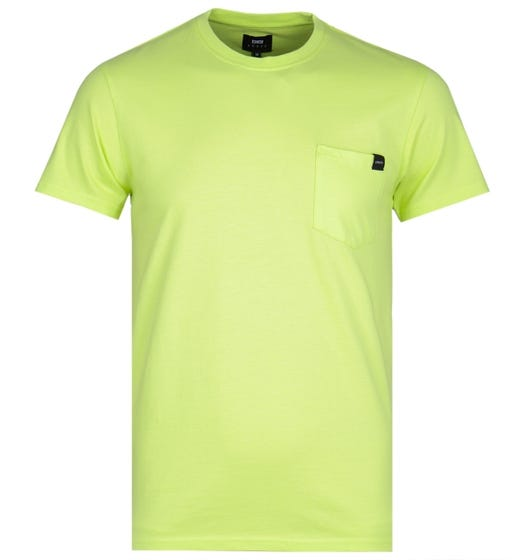 Edwin Lime Green Garment Washed Pocket Tee