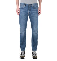 Edwin ED-80 Kingston Blue Washed Slim Tapered Denim Jeans