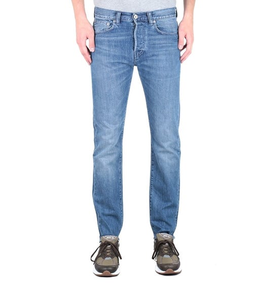 Edwin ED-80 Kingston Blue Clean Washed Slim Tapered Denim Jeans