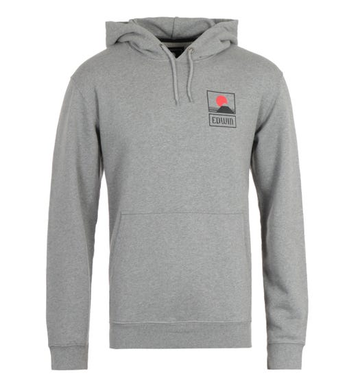 Edwin Sunset on Mt Fuji Grey Hooded Sweatshirt