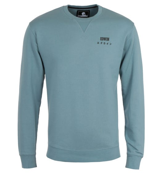 Edwin Base Crew Neck Arona Blue Sweatshirt