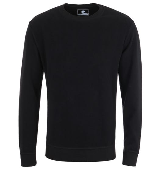 Edwin Nicki Black Crew Neck Sweatshirt