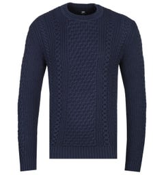 Edwin United Navy Knitted Sweater