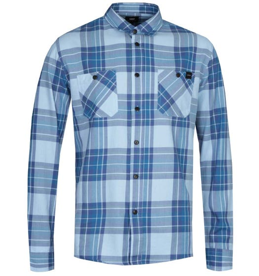 Edwin Light Blue Checked Labour Shirt