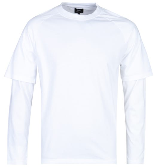 Edwin Long Sleeve White Baseball T-Shirt