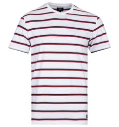 Edwin West Stripes White T-Shirt