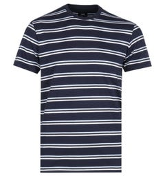 Edwin West Stripes Navy T-Shirt