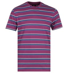 Edwin West Stripes Plum T-Shirt
