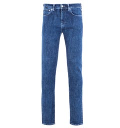 Edwin ED-80 Slim-Tapered 12.8 Oz Riaki Wash Yuuki Blue Denim Jeans