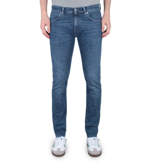 Edwin ED-85 Slim Tapered Drop Crotch 12.9 Oz CS Yuuki Blue Tsukiya Wash Denim Jeans