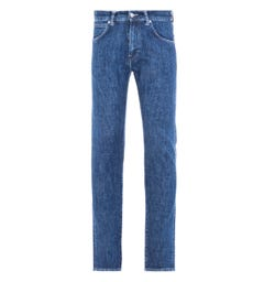 Edwin ED-85 Slim-Tapered 12.8 Oz Riaki Wash Yuuki Blue Denim Jeans