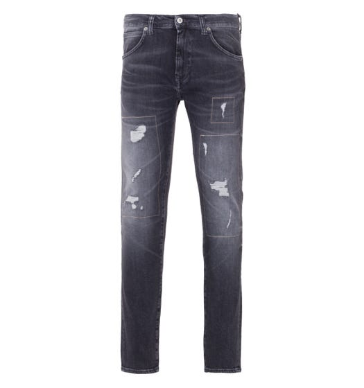 Edwin ED-85 Slim Tapered Jeans - Kiyo Repair Wash Ayano Black