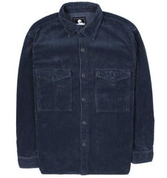 Edwin Long Sleeve Cord Blue Shirt