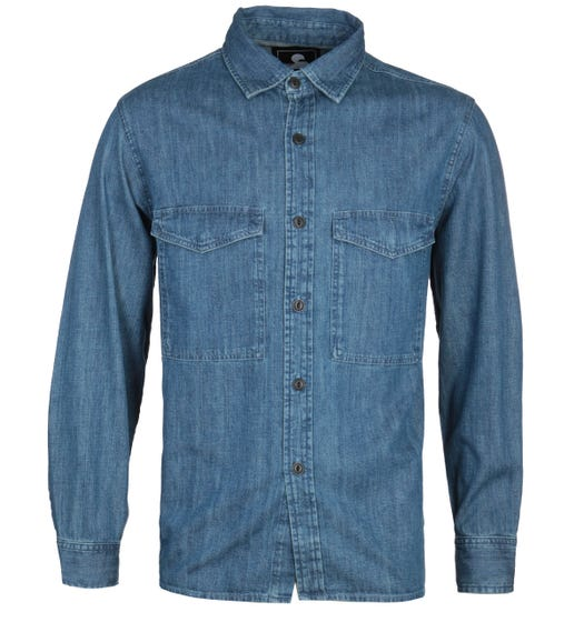 Edwin Big Long Sleeve Blue Stone Shirt