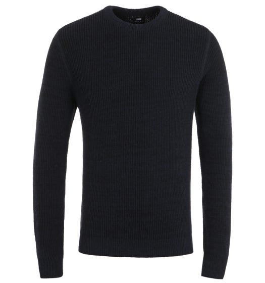 Edwin Meridian Recycled Yarn Indigo Sweater