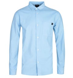 Edwin Minimal Long Sleeve Baby Blue Corduroy Shirt