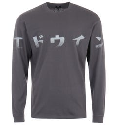 Edwin Imprint Long Sleeve T-Shirt - Ebony Grey