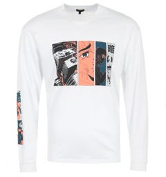 Edwin Apollo Thomas Long Sleeve T-Shirt - White