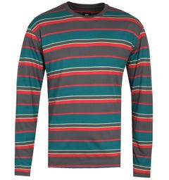 Edwin Multi Colour Stripe Long Sleeve T-Shirt