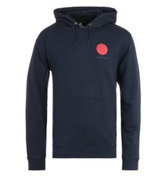 Edwin Japanese Sun Navy Hooded Sweatshirt