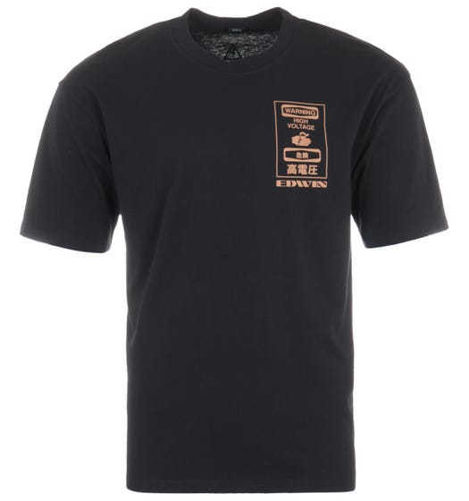 Edwin Warning T-Shirt - Black