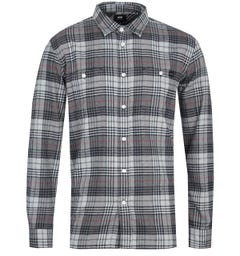 Edwin Labour Grey Long Sleeve Shirt