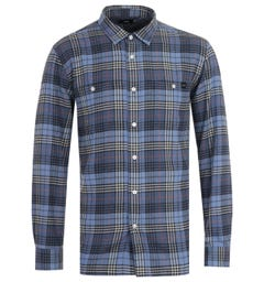 Edwin Labour Flannel Vintage Blue Shirt