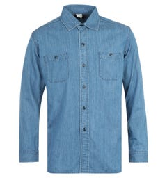 Edwin Nihon Menpu Denim Blue Shirt
