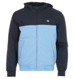 Fred Perry Panel Quilted Hooded Jacket - Navy